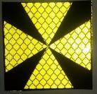 Reflective labels 40mm x 40mm  Maltese cross - celadon